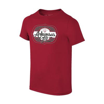 Arkansas Youth Girl Tee Shirt