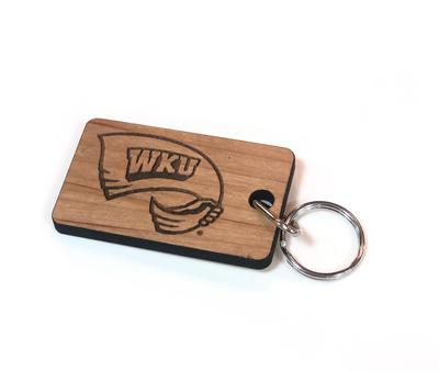 Western Kentucky Timeless Etchings Wood Key Chain