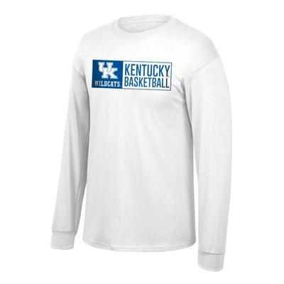 Kentucky Basketball Long Sleeve T-Shirt WHITE