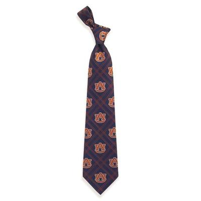 Auburn Woven Polyester Plaid Tie