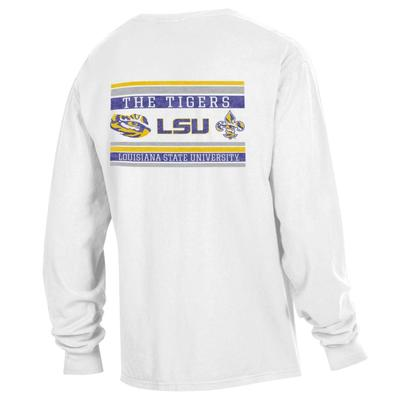 LSU Comfort Wash Double Bar L/S Tee