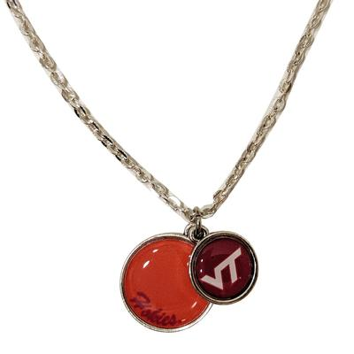 Virginia Tech Stacked Disc Necklace