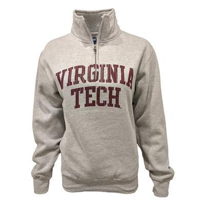 Virginia Tech Women's Big Cotton 1/4 Zip Pullover