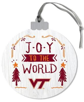 Virginia Tech Joy To the World Ornament