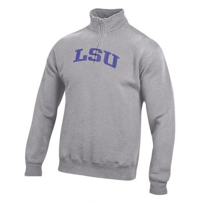 LSU Women's Big Cotton 1/4 Zip Pullover
