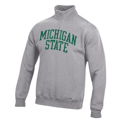 Michigan State Women's Big Cotton 1/4 Zip Pullover