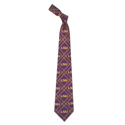 LSU Men's Repeat Logo Woven Polyester Tie
