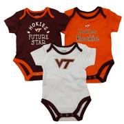 Virginia Tech 3 Piece Onesie Set