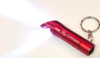 Western Kentucky Flashlight Bottle Opener Keychain