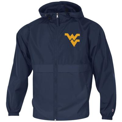 West Virginia Full Zip Lightweight Rain Jacket