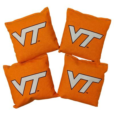 Virginia Tech Set of 4 Orange Cornhole Bags