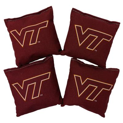Virginia Tech Set of 4 Maroon Cornhole Bags