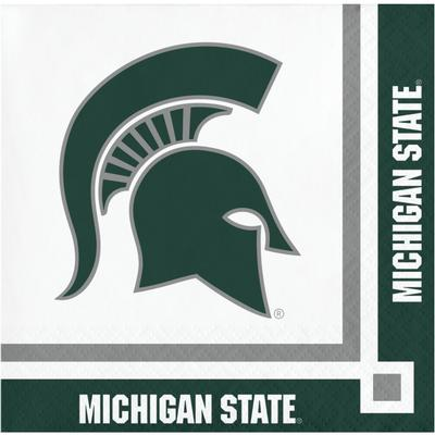 Michigan State Hoffman Beverage Napkins