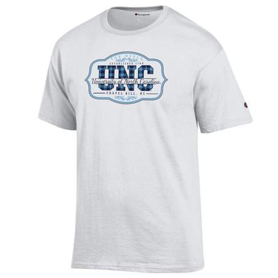 UNC Plaid Plaque Logo 2 For $28 Tee