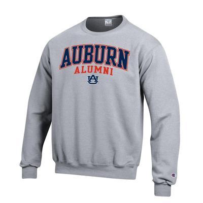 Auburn Screen Fleece Alumni Crew Neck HTHR_GREY