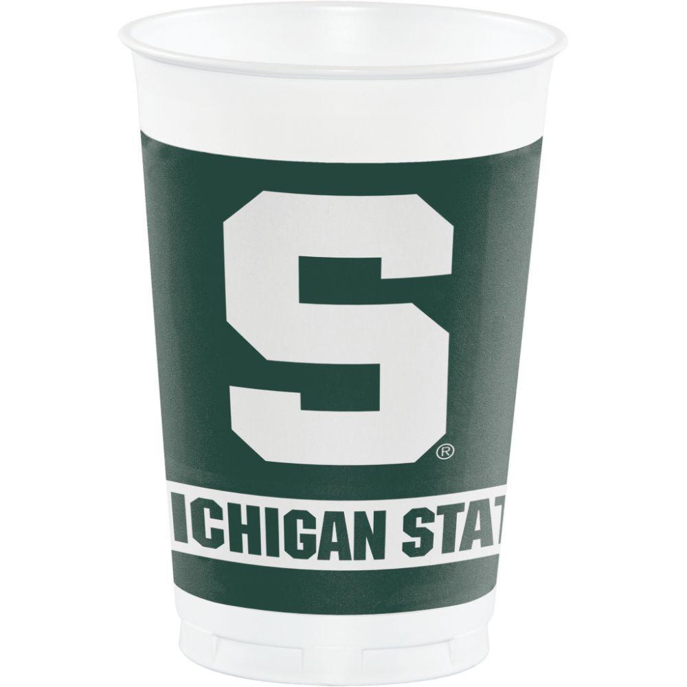 Michigan State Hoffman 20 Oz Plastic Cups