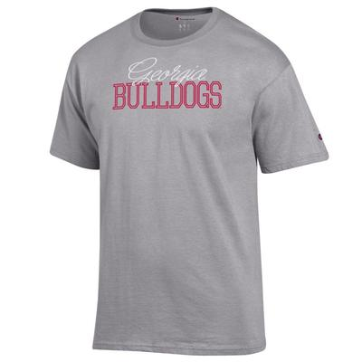 Georgia Champion Script Stack T-Shirt