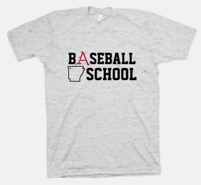 B Unlimited Arkansas Baseball School Triblend Tee