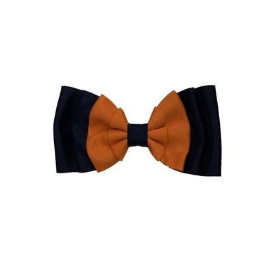 Auburn Navy & Orange Hairbow