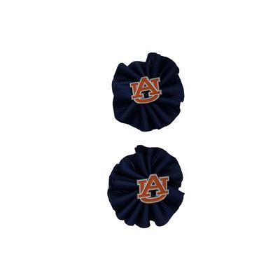 Auburn Ruffle Hairbow (2 pack)