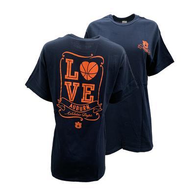 Auburn Love Basketball T Shirt NAVY