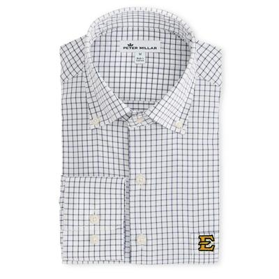 ETSU Peter Millar Men's Woven Tattersall Shirt