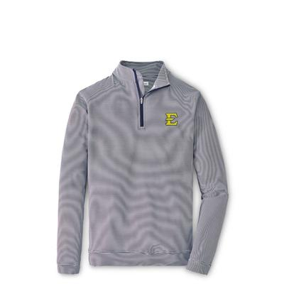 ETSU Peter Millar Perth Mini Stripe Quarter Zip