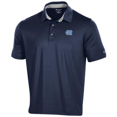 UNC Men's Champion Solid Polo W Logo