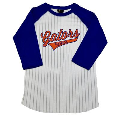 Florida 3/4 Sleeve Gators Script Baseball Tee
