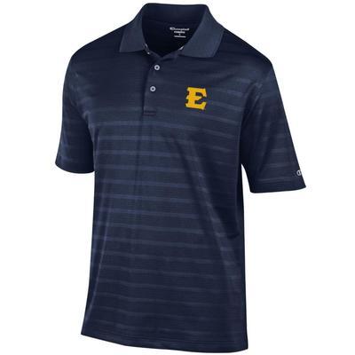 ETSU Men's Champion Stripe Polo W Logo