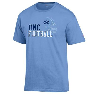 UNC Champion Helmet Short Sleeve Tee C.BLUE