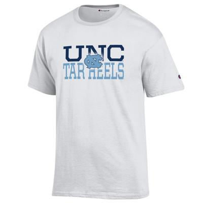 UNC Champion Stack Short Sleeve Tee