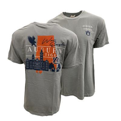 Auburn Campus Building Comfort Colors Tee Shirt