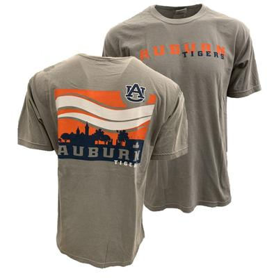 Auburn Campus Waves Comfort Colors Tee Shirt