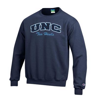 UNC Champion Youth Fleece Crew Sweatshirt