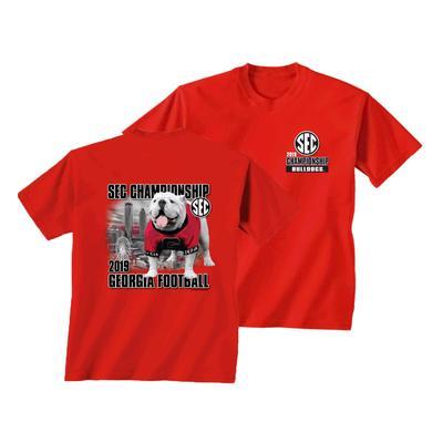2019 SEC Championship Georgia Mascot Short Sleeve Tee