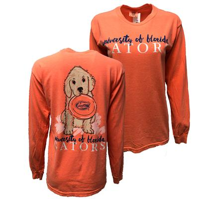 Florida Gameday Frisbee Lab Long Sleeve Comfort Color Tee