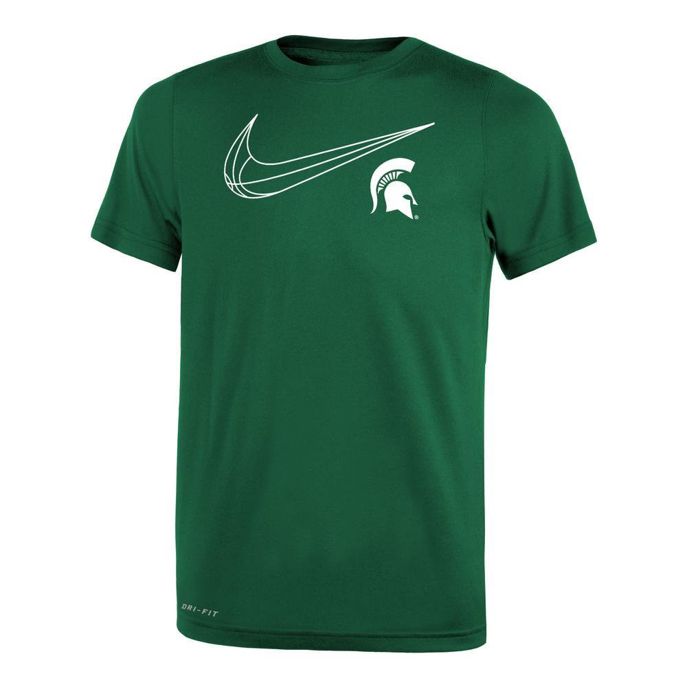 Michigan State Nike Youth Basketball Swoosh Legend S/S Tee