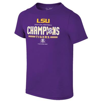 LSU Youth 2019 SEC Football Champions Tee Shirt