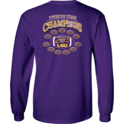 LSU 2019 SEC 12X Football Champions Tee Shirt