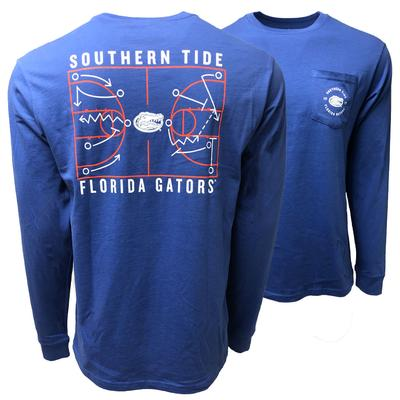 Florida Southern Tide Basketball Court LS Tee