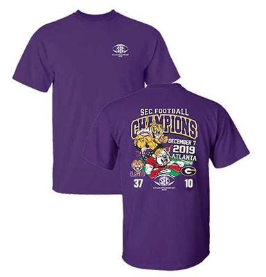 LSU 2019 SEC Score Football Champions Tee Shirt