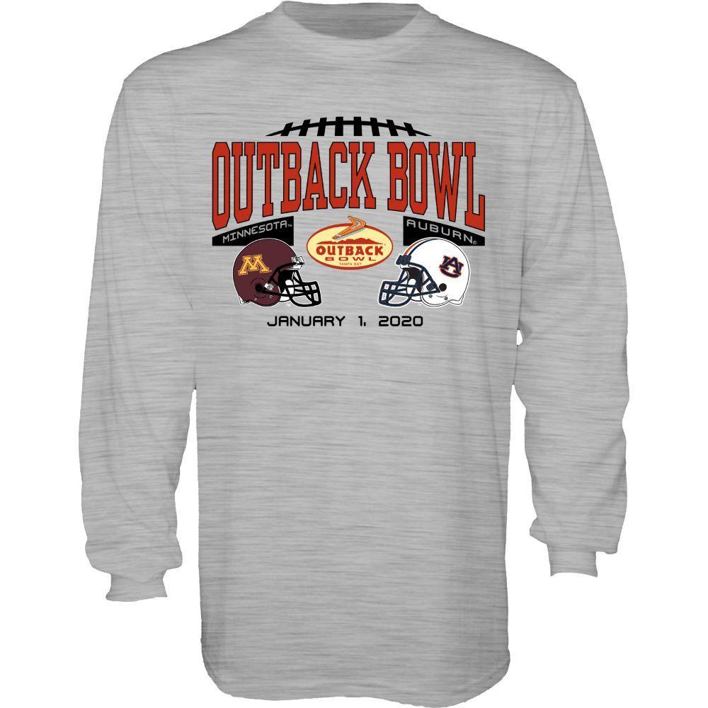 2020 Auburn Vs Minnesota Outback Bowl Long Sleeve Match Up Tee