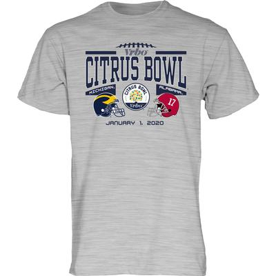 2020 Alabama vs Michigan Citrus Bowl Short Sleeve Match Up Tee