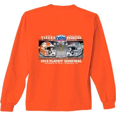 Clemson Fiesta Bowl Helmets Long Sleeve Tee Shirt