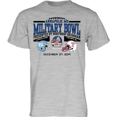 2020 North Carolina vs Temple Military Bowl Short Sleeve Tee