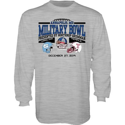 2020 North Carolina vs Temple Military Bowl Long Sleeve Tee