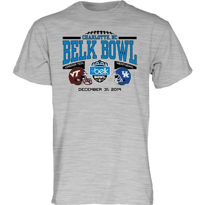 2019 Kentucky vs Virginia Tech Belk Bowl Short Sleeve Tee
