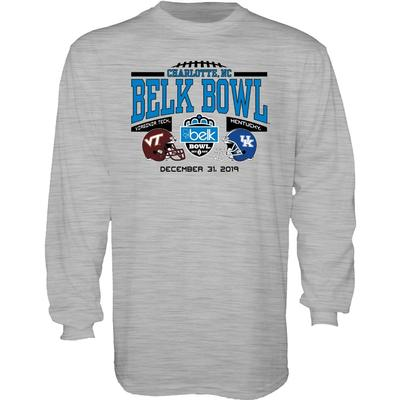 2019 Kentucky vs Virginia Tech Belk Bowl Long Sleeve Tee