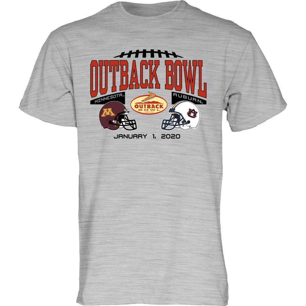 2020 Auburn Vs Minnesota Outback Bowl Short Sleeve Match Up Tee